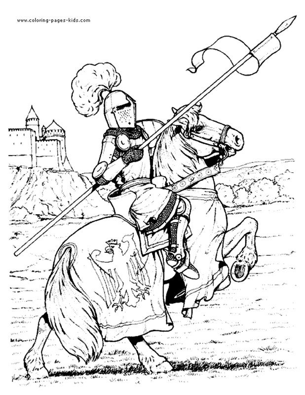 medieval coloring pages knight - photo#9